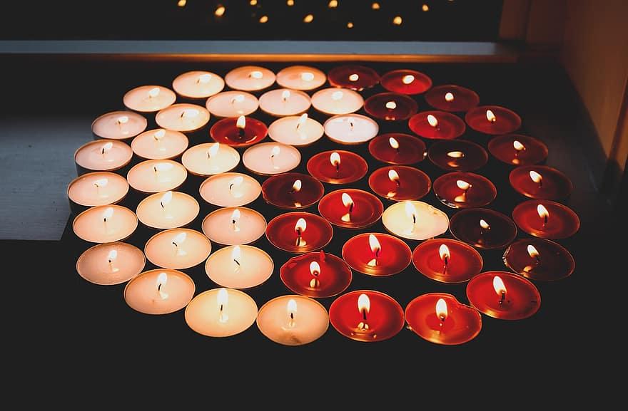 Ensemble de bougies zen